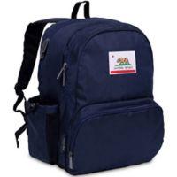 State of Mind California Flag Megapak Backpack in Deep Blue