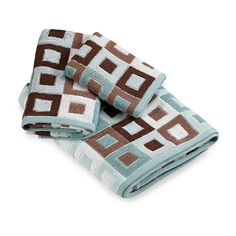 City Squares Blue Hand Towel Bed Bath Amp Beyond