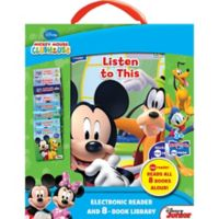 "ME Reader Jr. ""La Casa De Mickey Mouse"" Spanish Electronic Reader and 8-Book Library"
