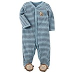 carter's® Newborn Striped Monkey Footie in Blue