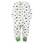 carter's® Size 9M Dino Print Sleep & Play Footie in Ivory