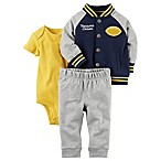 carter's® Size 12M 3-Piece Handsome Little Jacket, Bodysuit, and Pant Set in Navy/Grey