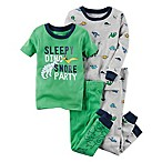 carter's® Size 24M 4-Piece  Sleepy Dino Snore Party  Snug-Fit Pajamas in Green