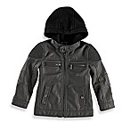 Urban Republic Size 3-6M Ribbed Shoulder Aviator Jacket in Charcoal