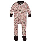 Burt's Bees Baby® Size 0-3M Autumn Canopy Organic Cotton Footed Pajama in Pink