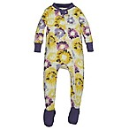 Burt's Bees Baby® Size 0-3M Splatter Floral Organic Cotton Footed Pajama in Purple