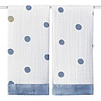 aden + anais® Classic Issie Rock Star 2-Pack Muslin Security Blankets in Blue