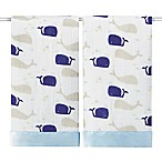 aden + anais® Classic Issie High Seas 2-Pack Muslin Security Blankets in Blue