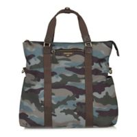 TWELVElittle Unisex 3-in-1 Foldover Diaper Bag Tote in Camo Print