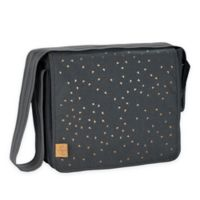 Lassig Casual Messenger Diaper Bag in Dark Grey Triangle Print
