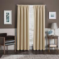 Sebastian 144-Inch Rod Pocket 100% Blackout Window Curtain Panel in Gold