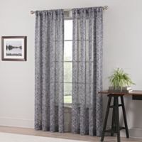 Geneva Sheer 84-Inch Rod Pocket Window Curtain Panel in Taupe