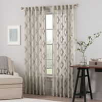 Impress Sheer 84-Inch Rod Pocket/Back Tab Window Curtain Panel in Taupe