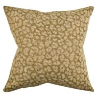 Vesper Lane Posh Animal Print Square Throw Pillow in Brown