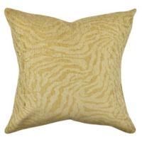 Vesper Lane Posh Animal Print Square Throw Pillow in Tan