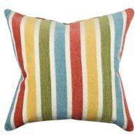 Vesper Lane Posh Animal Print Striped Throw Pillow in Red