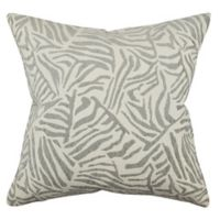Vesper Lane Posh Animal Print Square Throw Pillow in Grey