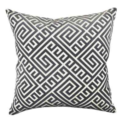 Vesper Lane Modern Geometric Square Throw Pillow in Grey