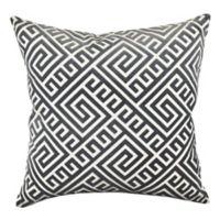 Vesper Lane Modern Geometric Square Throw Pillow in Grey