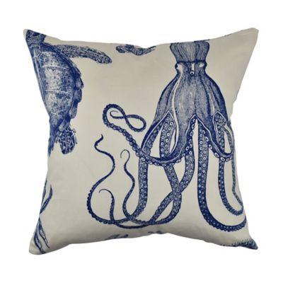 Vesper Lane Nautical Coastal Square Throw Pillow In Cream