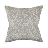 Nautical Gray Coral Throw Pillow