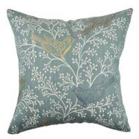 Vesper Lane Classical Sewn Print Square Throw Pillow in Blue