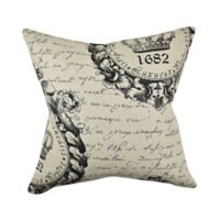 Vesper Lane Mid-Century Typography Square Throw Pillow in Black