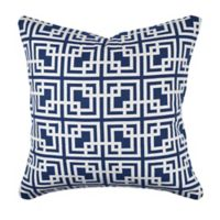 Vesper Lane Contemporary Sewn Print Square Throw Pillow in Black