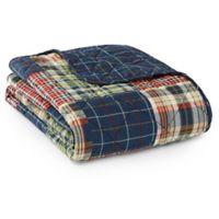 Eddie Bauer® Madrona Plaid Throw Blanket in Blue
