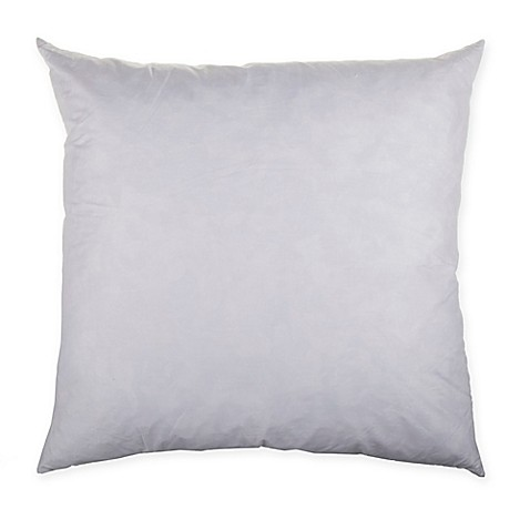 Make-Your-Own-Pillow Square Throw Pillow Feather Insert in White - Bed Bath & Beyond