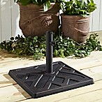 Forest Gate Square Weave Umbrella Base in Antique Bronze
