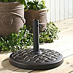 Forest Gate Round Weave Umbrella Base in Antique Bronze