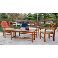 Forest Gate Aspen 4-Piece Patio Conversation Chat Set with Cushions