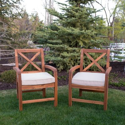 walker edison xback chairs with cushions set of 2 - Lawn Chair Cushions