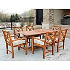 Forest Gate X-Back 7-Piece Dining Set with Cushions