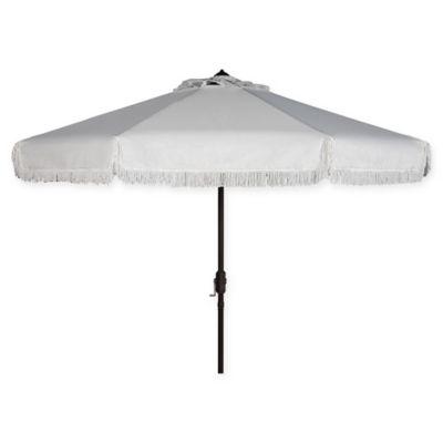 Safavieh UV Resistant Milan 9-Foot Crank Umbrella in White