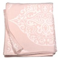 Peri Home Woven Damask Throw Blanket in Blush