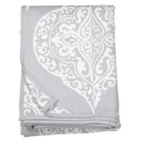 Peri Home Woven Damask Throw Blanket in Grey