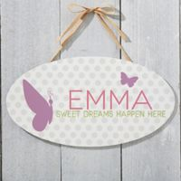 Sweet Baby Girl Oval Sign