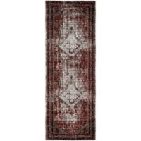 Surya Uthaca Classic 2-Foot 7-Inch x 7-Foot 3-Inch Runner in Medium Grey/Dark Red