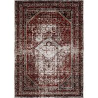 Surya Uthaca Classic 6-Foot 7-Inch x 9-Foot 6-Inch Area Rug in Medium Grey/Dark Red