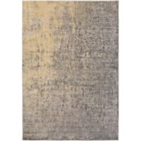 Surya Carlisle Modern Distressed 1-Foot 10-Inch x 2-Foot 11-Inch Accent Rug in Beige/Chocolate