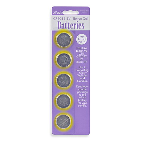 Everlasting Candles Replacement Cr2032 3v Batteries Set