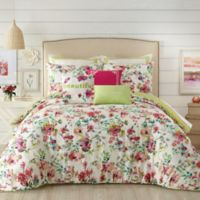 Jessica Simpson Watercolor Garden Full/Queen Comforter Set in Pink