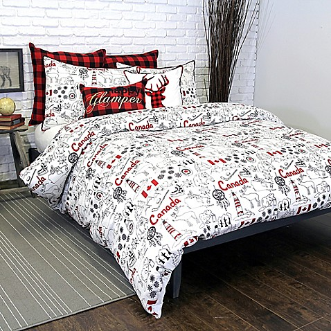 Alamode Home Great White North Duvet Cover Bed Bath Amp Beyond