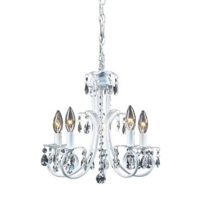 Buy white mini chandelier from bed bath beyond parker 5 light mini chandelier in white aloadofball Gallery