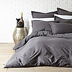 Levtex Home Washed Linen Queen Duvet Cover in Coal