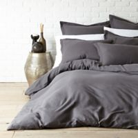Levtex Home Washed Linen Twin Duvet Cover in Light Grey
