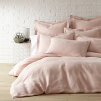 Levtex Home Washed Linen Queen Duvet Cover in Blush