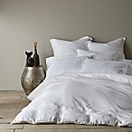 Levtex Home Washed Linen Queen Duvet Cover in White